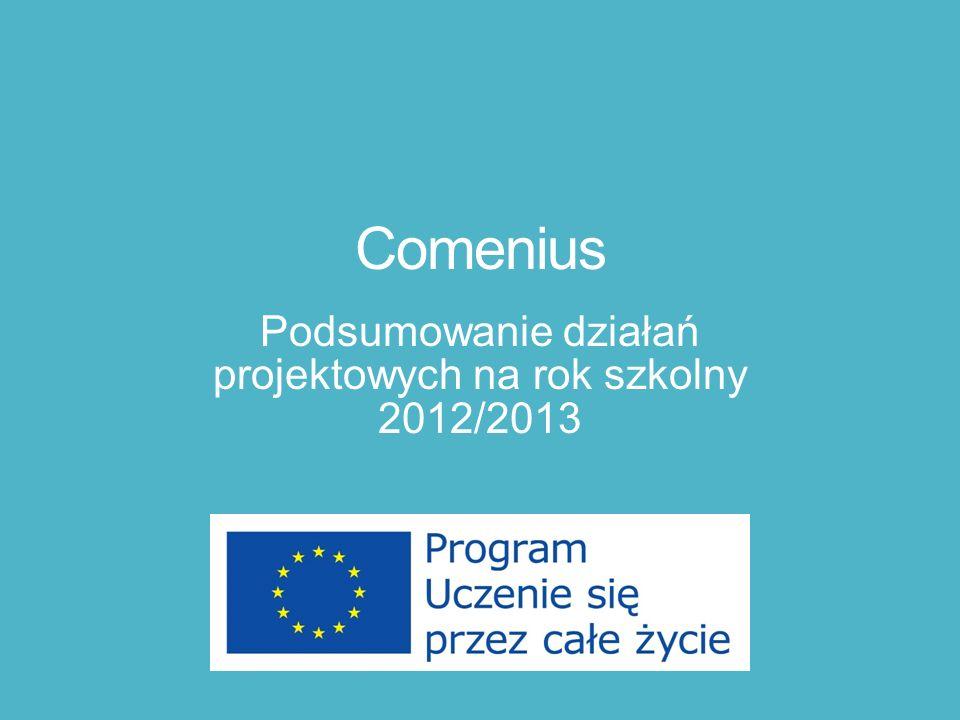 Comenius Podsumowanie działań projektowych na rok szkolny 2012/2013