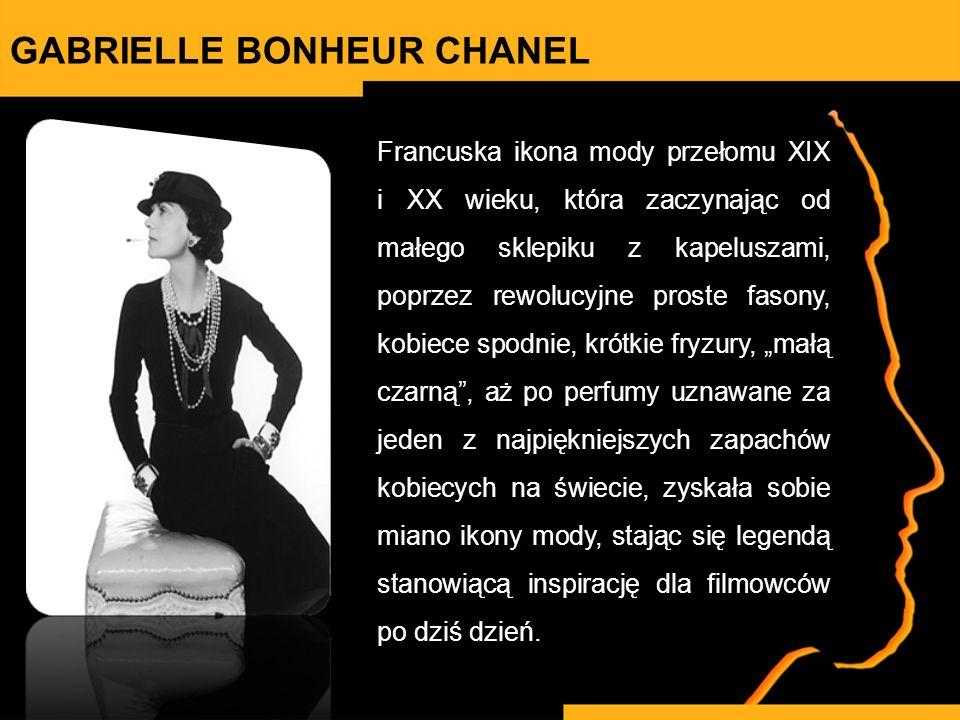 Francuska ikona mody przełomu XIX i XX wieku, która zaczynając od małego sklepiku z kapeluszami, poprzez rewolucyjne proste fasony, kobiece spodnie, k