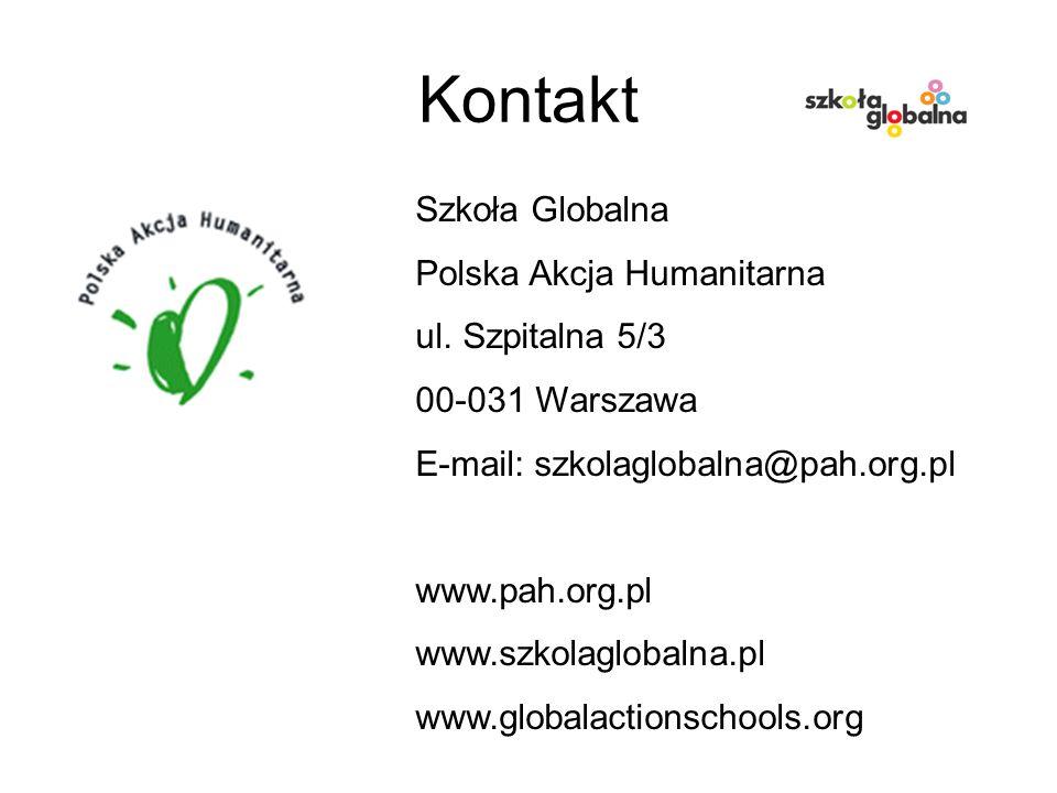 Kontakt Szkoła Globalna Polska Akcja Humanitarna ul.