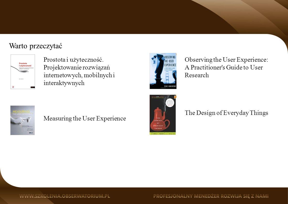 Warto przeczytać Prostota i użyteczność.