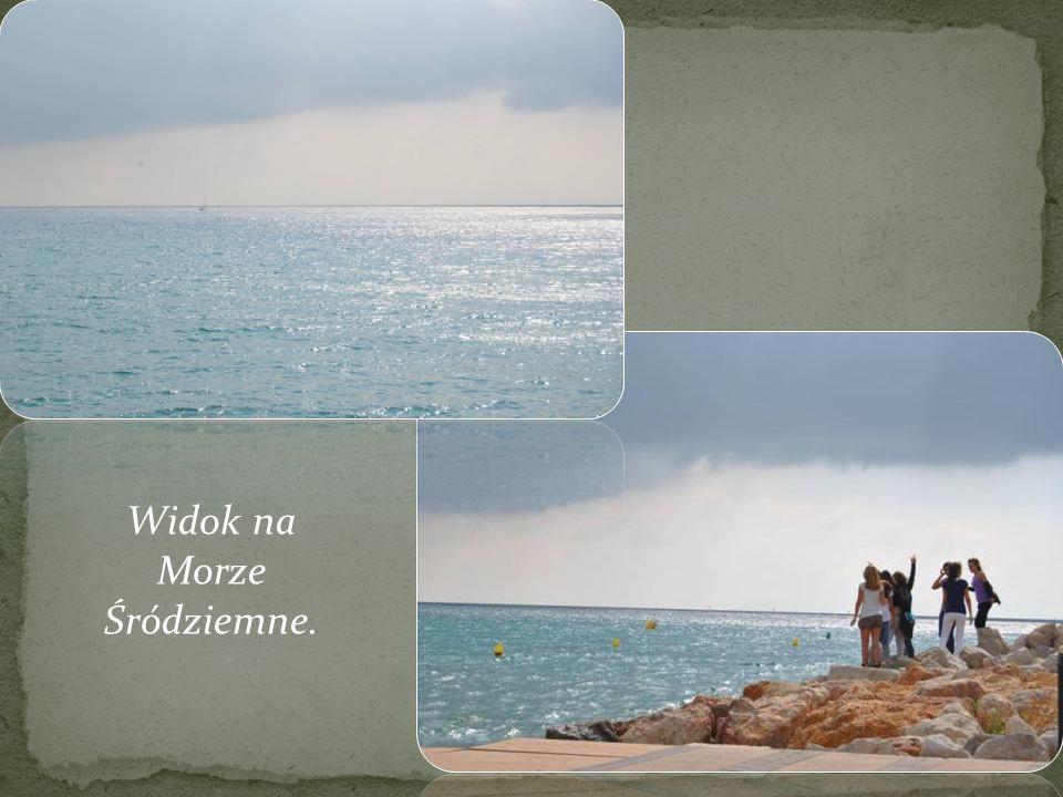 Widok na Morze Śródziemne.