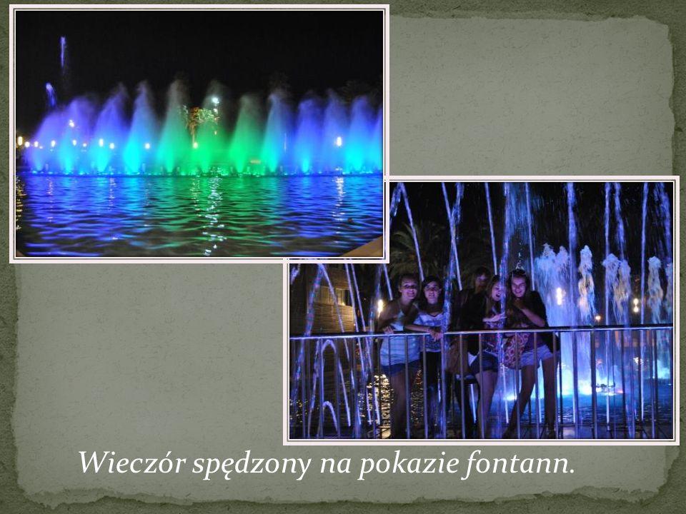Wieczór spędzony na pokazie fontann.