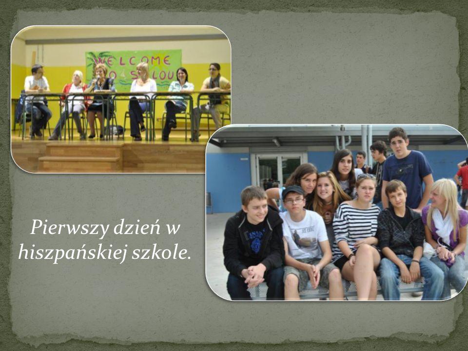 Pierwszy dzień w hiszpańskiej szkole.