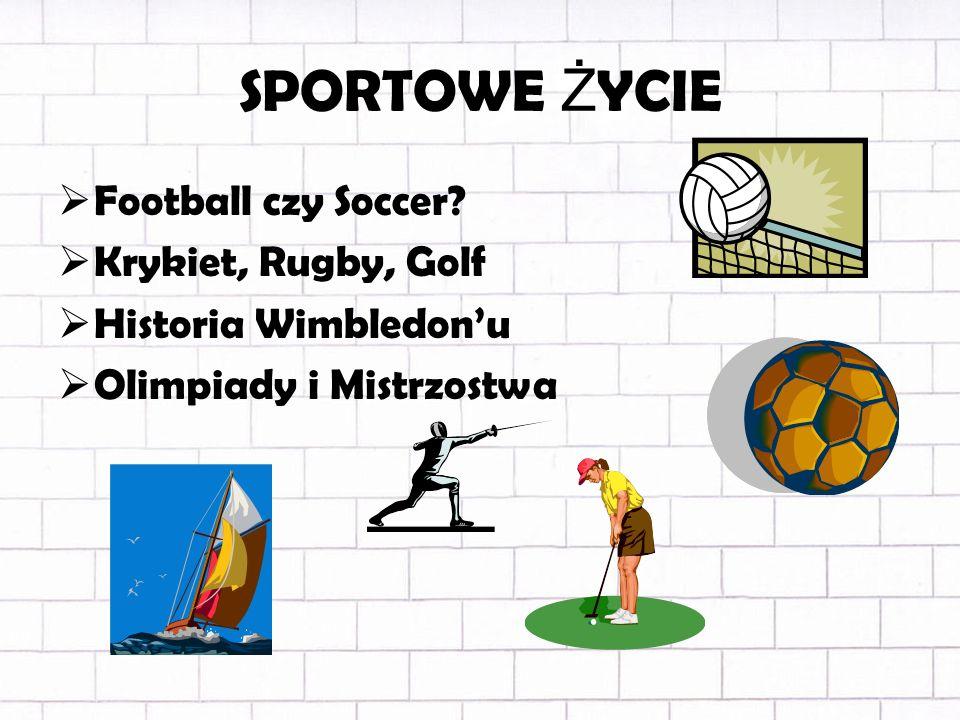 SPORTOWE Ż YCIE Football czy Soccer.