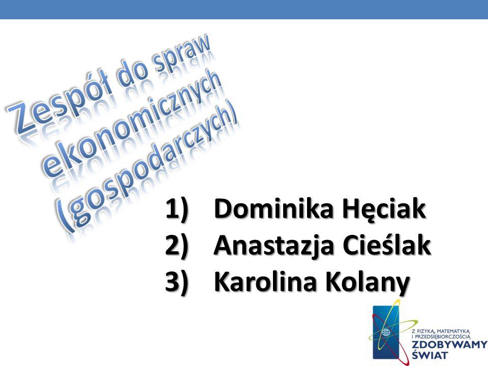 1)Dominika 1)Dominika Hęciak 2)Anastazja 2)Anastazja Cieślak 3)Karolina 3)Karolina Kolany