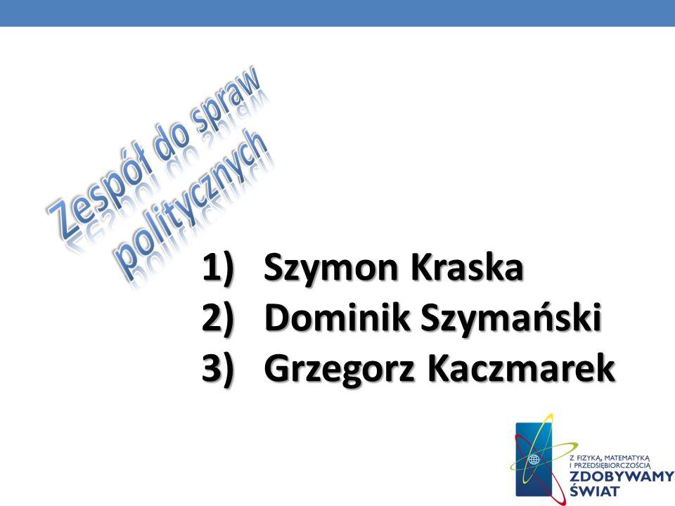 1) 1) Szymon Kraska 2) 2) Dominik Szymański 3) 3) Grzegorz Kaczmarek