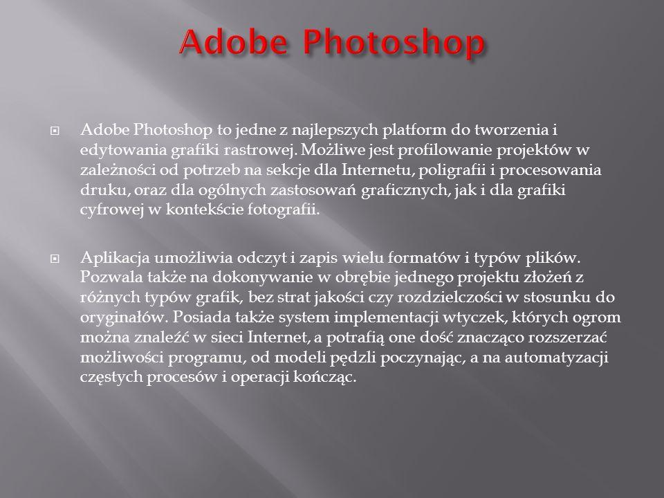 Adobe Photoshop to jedne z najlepszych platform do tworzenia i edytowania grafiki rastrowej. Możliwe jest profilowanie projektów w zależności od potrz
