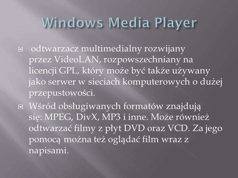 odtwarzacz multimedialny rozwijany przez VideoLAN, rozpowszechniany na licencji GPL, który może być także używany jako serwer w sieciach komputerowych