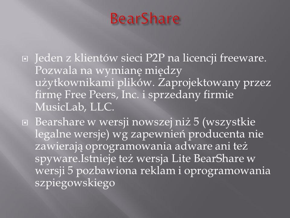 Jeden z klientów sieci P2P na licencji freeware. Pozwala na wymianę między użytkownikami plików. Zaprojektowany przez firmę Free Peers, Inc. i sprzeda