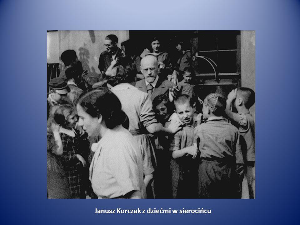 Janusz Korczak z dziećmi w sierocińcu Janusz Korczak z dziećmi w sierocińcu