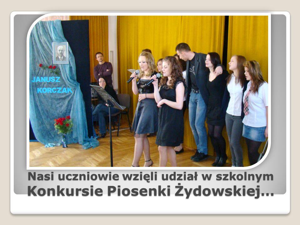 Nasi uczniowie wzięli udział w szkolnym Konkursie Piosenki Żydowskiej…