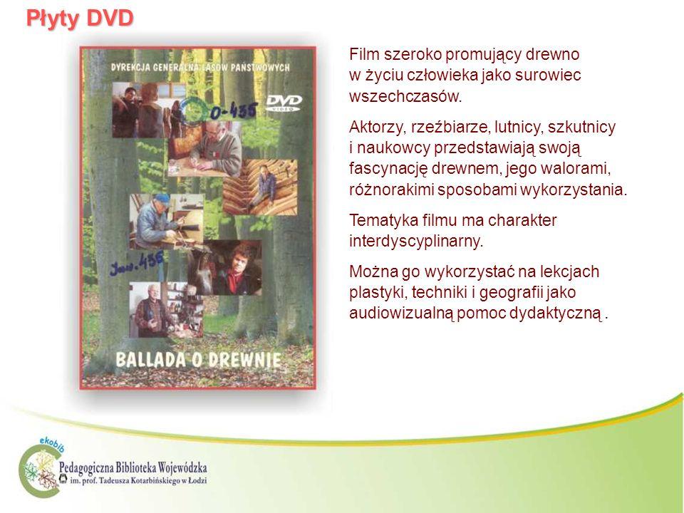 Płyty DVD Film szeroko promujący drewno w życiu człowieka jako surowiec wszechczasów. Aktorzy, rzeźbiarze, lutnicy, szkutnicy i naukowcy przedstawiają