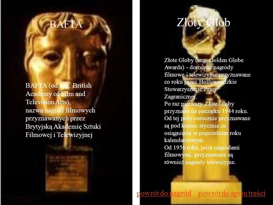 BAFTA BAFTA (od ang. British Academy of Film and Television Arts), nazwa nagród filmowych przyznawanych przez Brytyjską Akademię Sztuki Filmowej i Tel
