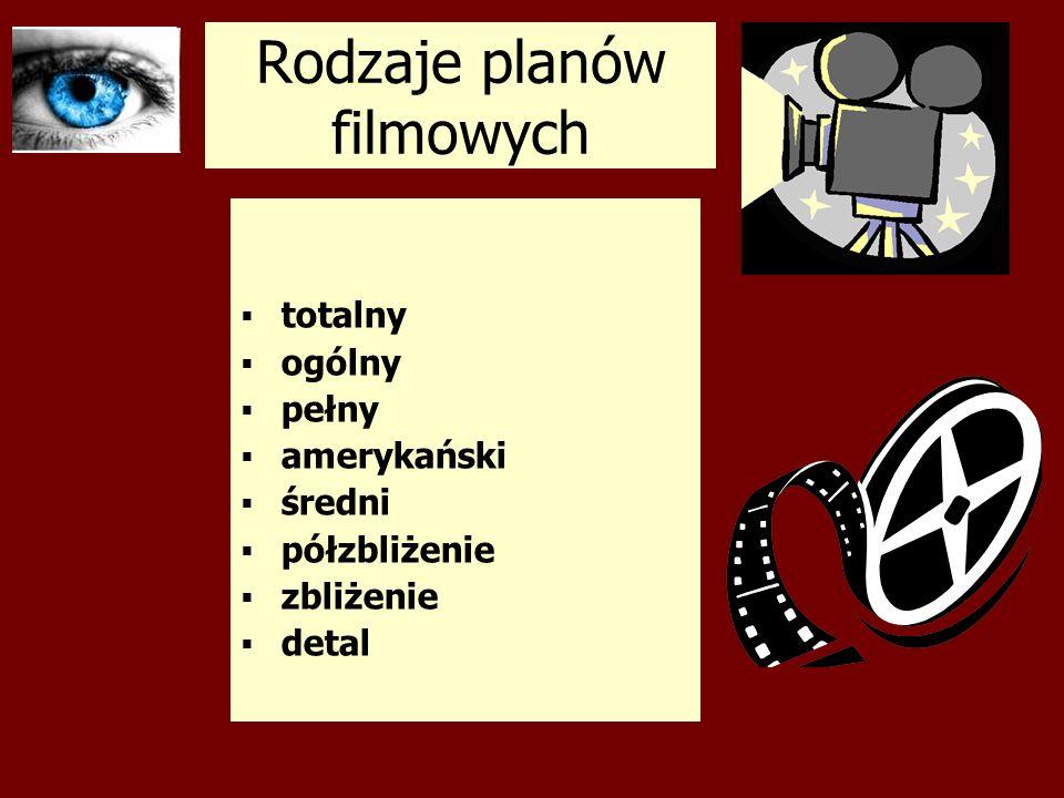 Rodzaje planów filmowych totalny ogólny pełny amerykański średni półzbliżenie zbliżenie detal
