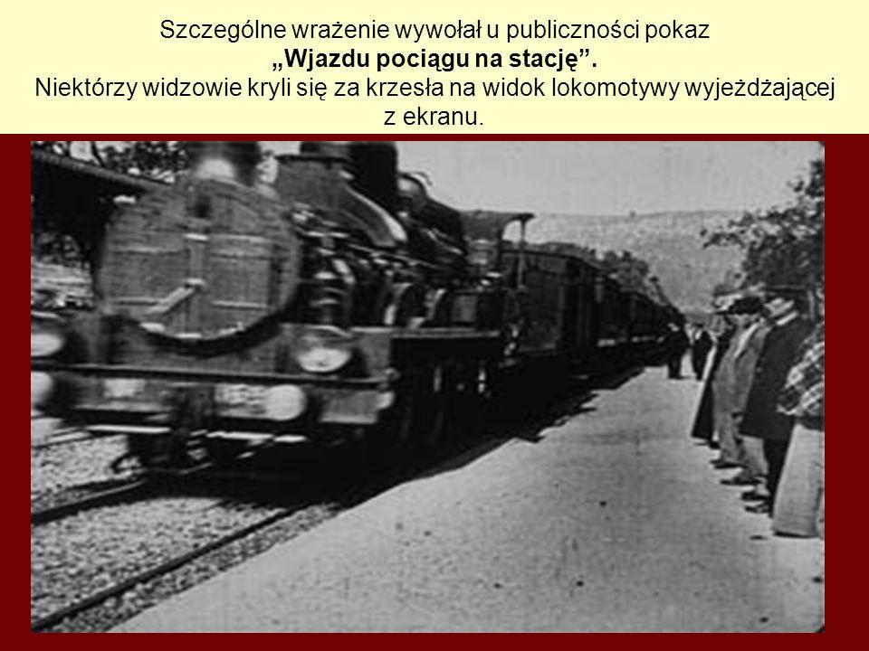 Szczególne wrażenie wywołał u publiczności pokaz Wjazdu pociągu na stację. Niektórzy widzowie kryli się za krzesła na widok lokomotywy wyjeżdżającej z