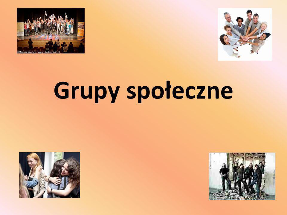 Grupy społeczne