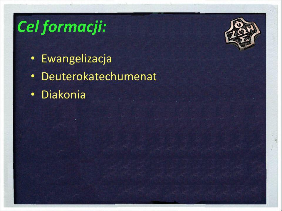 Cel formacji: Ewangelizacja Deuterokatechumenat Diakonia