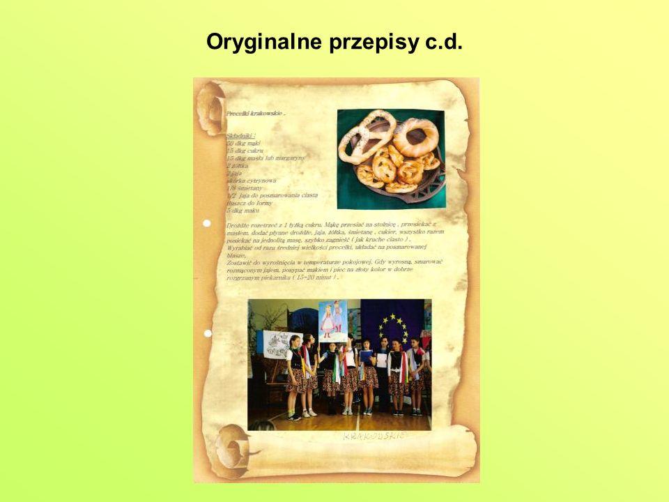 Oryginalne przepisy c.d.