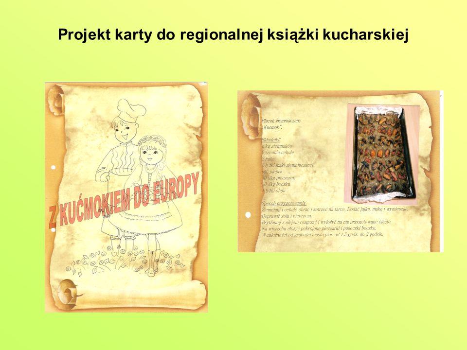 Projekt karty do regionalnej książki kucharskiej