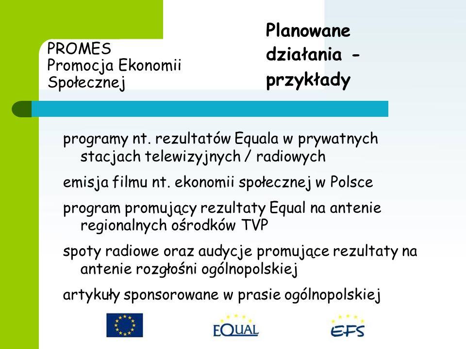PROMES Promocja Ekonomii Społecznej programy nt.