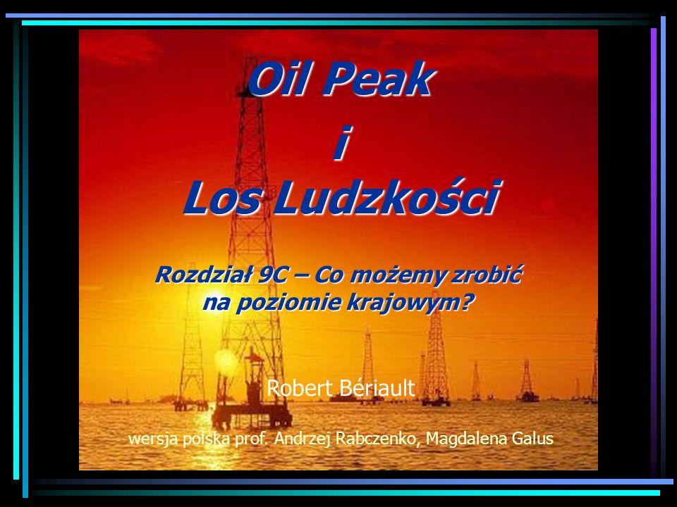 Oil Peak i Los Ludzkości Rozdział 9C – Co możemy zrobić na poziomie krajowym? Robert Bériault wersja polska prof. Andrzej Rabczenko, Magdalena Galus
