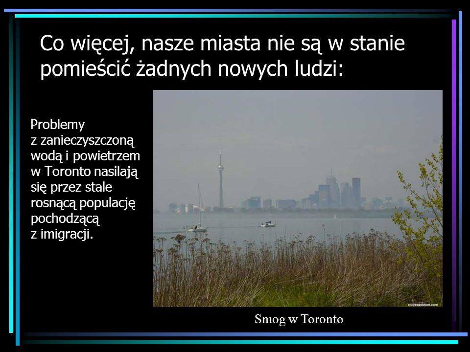Co więcej, nasze miasta nie są w stanie pomieścić żadnych nowych ludzi: Problemy z zanieczyszczoną wodą i powietrzem w Toronto nasilają się przez stal