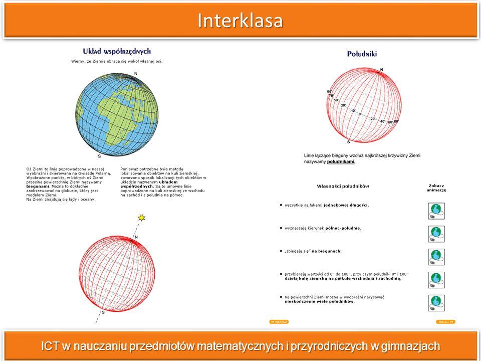InterklasaInterklasa ICT w nauczaniu przedmiotów matematycznych i przyrodniczych w gimnazjach