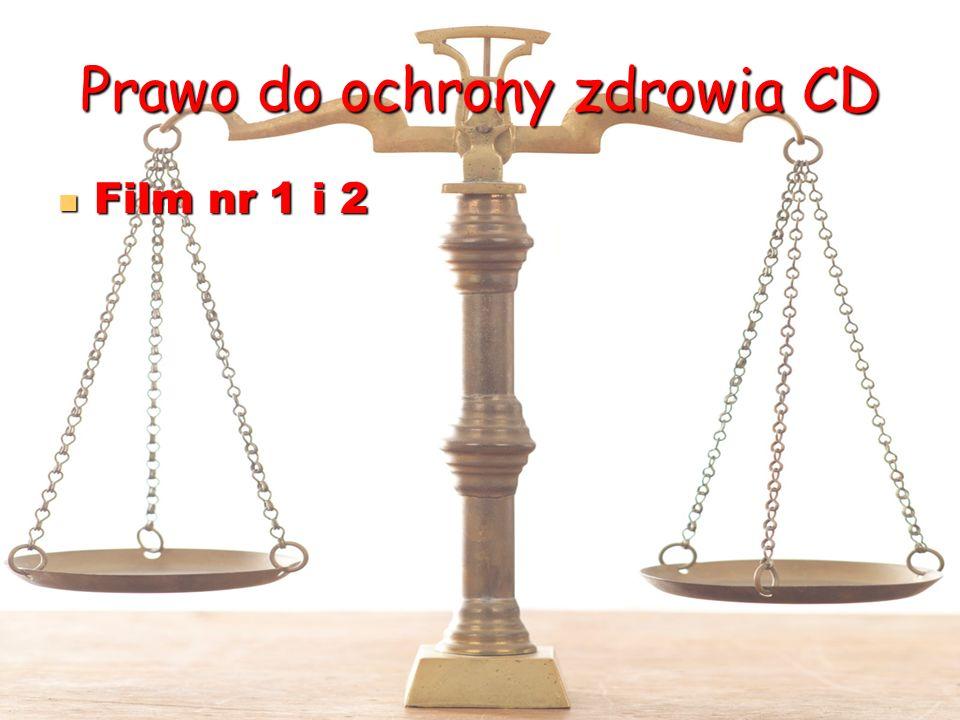 Prawo do ochrony zdrowia CD Film nr 1 i 2 Film nr 1 i 2