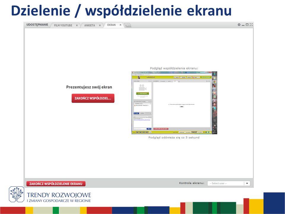 Dzielenie / współdzielenie ekranu