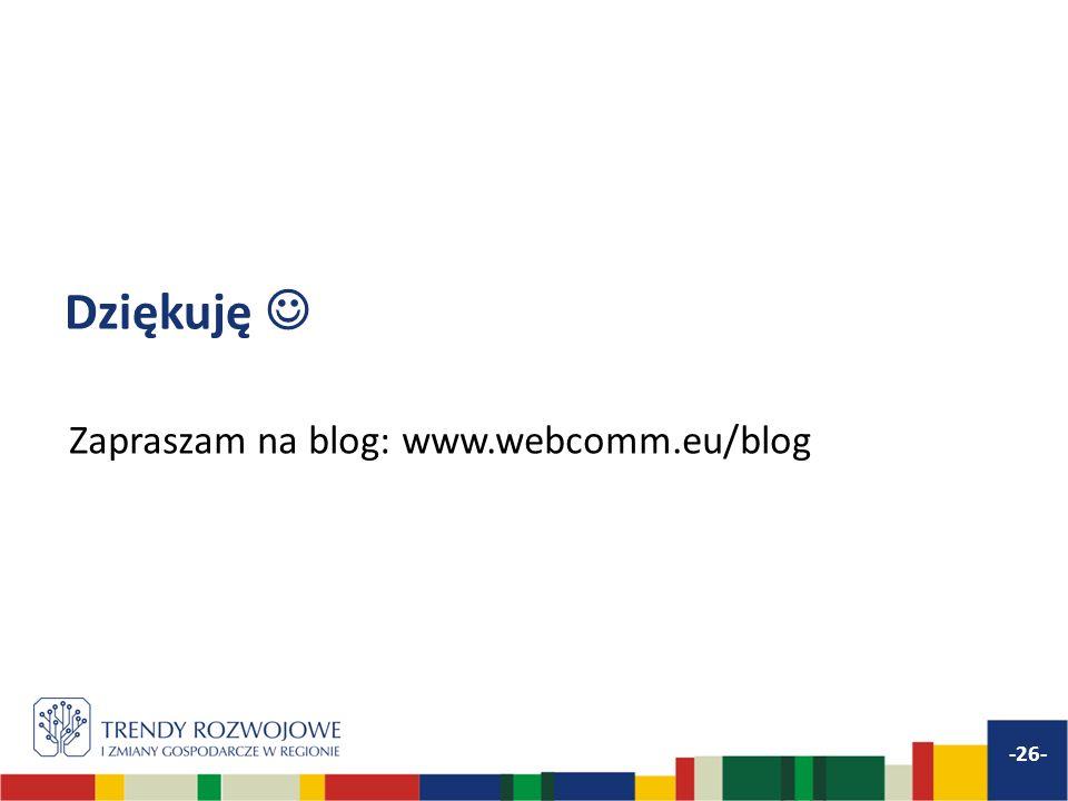 Dziękuję Zapraszam na blog: www.webcomm.eu/blog -26-