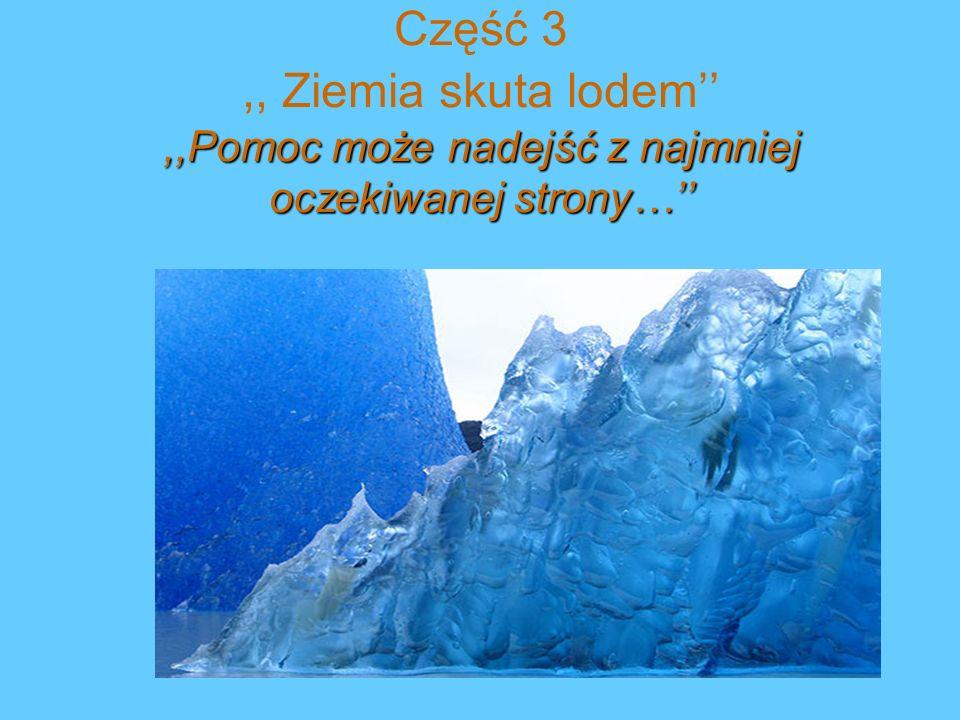 ,, Ziemia skuta lodem Na pokładzie wilczego okrętu Will i Elevan, pojmani podczas bitwy, płyną do Skandii jako jeńcy groźnego wojownika, jarla Eraka.
