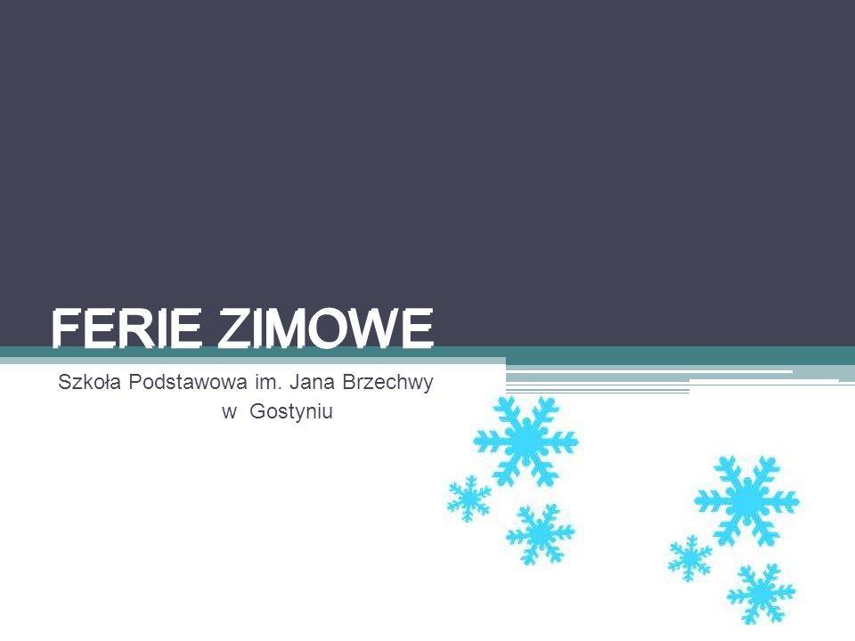 FERIE ZIMOWE Szkoła Podstawowa im. Jana Brzechwy w Gostyniu FERIE ZIMOWE