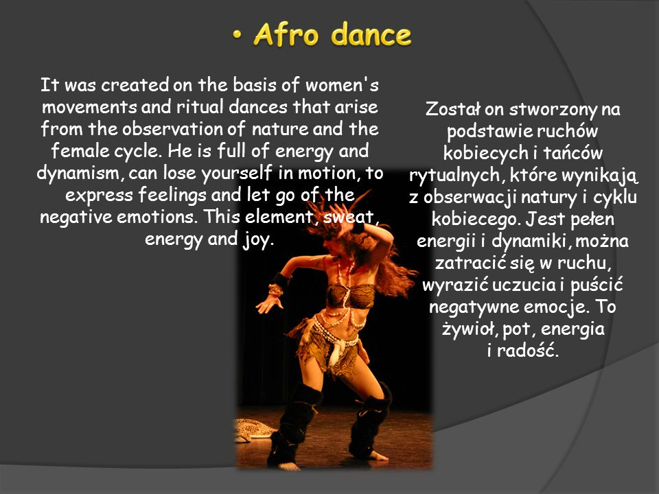 It was created on the basis of women's movements and ritual dances that arise from the observation of nature and the female cycle. He is full of energ