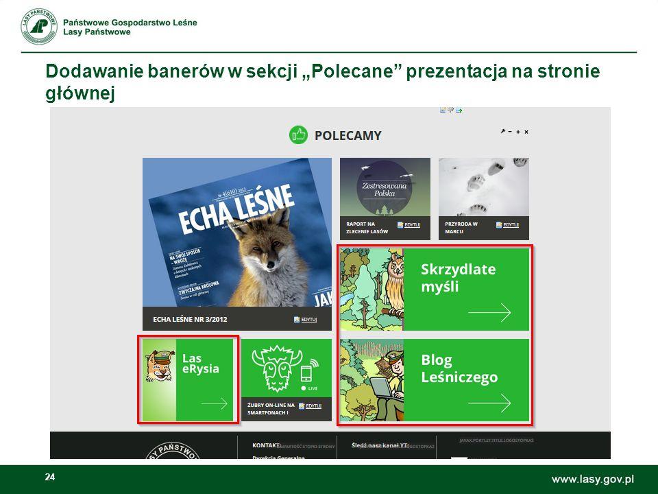 24 Dodawanie banerów w sekcji Polecane prezentacja na stronie głównej