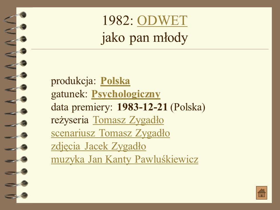 1980: GRZESZNY ŻYWOT FRANCISZKA BUŁY jako ojciec BułyGRZESZNY ŻYWOT FRANCISZKA BUŁY jako ojciec Buły produkcja: Polska gatunek: Komedia, Obyczajowy, P
