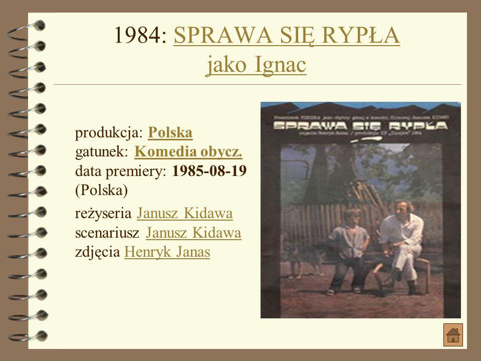 1984: MGŁA jako kierowcaMGŁA jako kierowca produkcja: PolskaPolska gatunek: ObyczajowyObyczajowy data premiery: 1985-02-04 (Świat) reżyseria Adam Kucz
