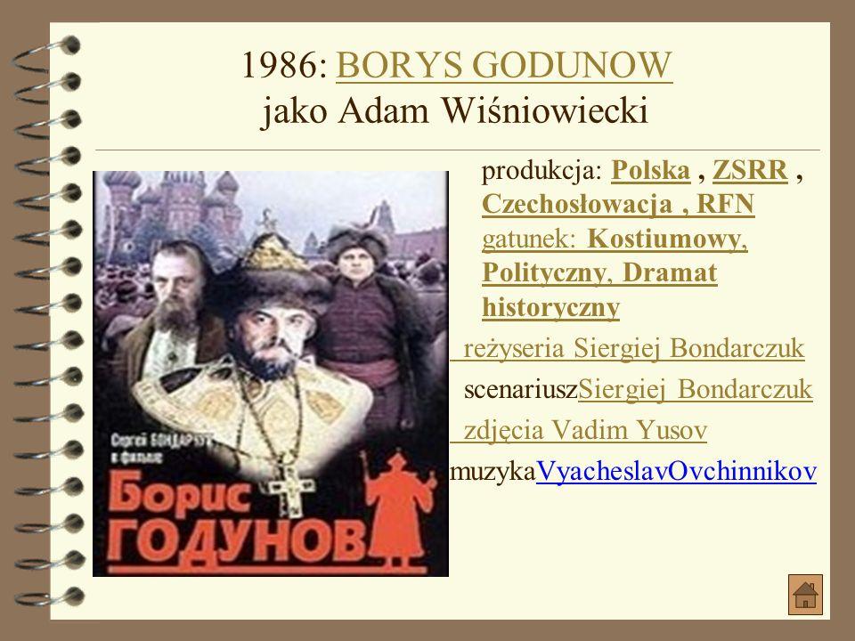 1985: SAM POŚRÓD SWOICH jako prezes PSL - uSAM POŚRÓD SWOICH jako prezes PSL - u produkcja: Polska gatunek: WojennyPolskaWojenny data premiery: 1986-0