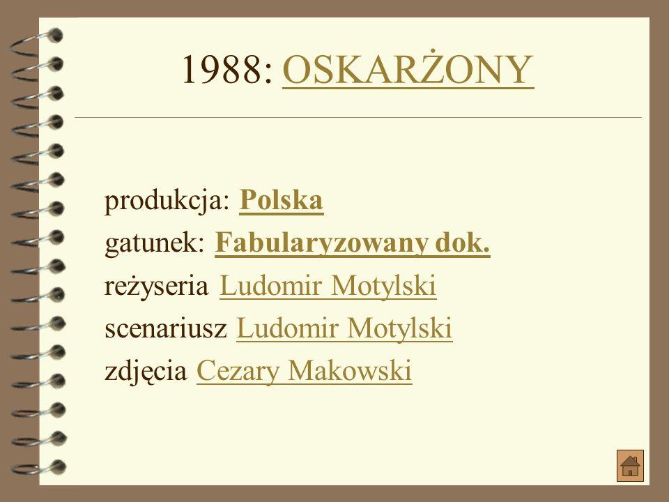 1986: BORYS GODUNOW jako Adam WiśniowieckiBORYS GODUNOW produkcja: Polska, ZSRR, Czechosłowacja, RFN gatunek: Kostiumowy, Polityczny, Dramat historycz