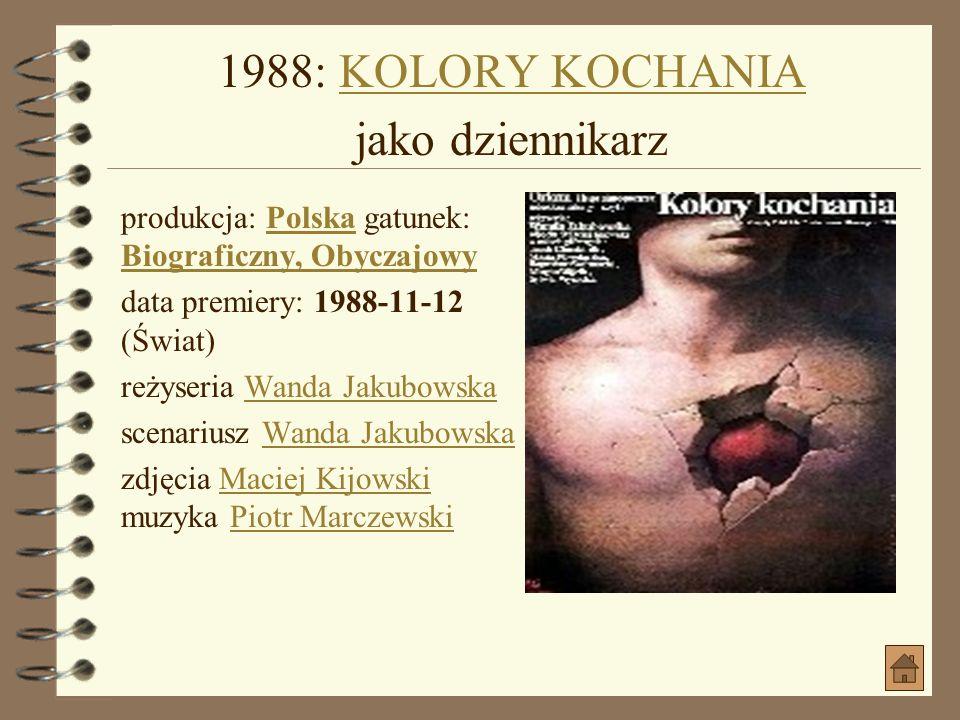 1988: OSKARŻONYOSKARŻONY produkcja: PolskaPolska gatunek: Fabularyzowany dok.Fabularyzowany dok.