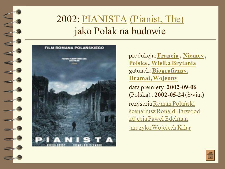 2000: SEZON NA LESZCZA jako MrózSEZON NA LESZCZA produkcja: Polska gatunek: SensacyjnyPolska Sensacyjny data premiery: 2000-01-26 (Polska) reżyseria B