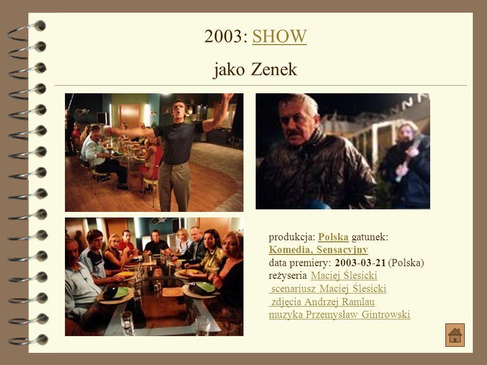 2002: PIANISTA (Pianist, The) jako Polak na budowiePIANISTA(Pianist, The) produkcja: Francja, Niemcy, Polska, Wielka Brytania gatunek: Biograficzny, D