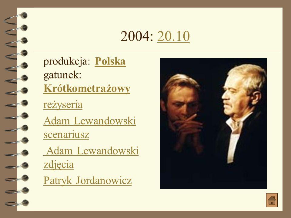 2004: WESELE jako WojnarWESELE produkcja: Polska gatunek: Dramat, KomediaPolska Dramat, Komedia data premiery: 2004-10-15 (Polska), 2004-08-13 (Świat)