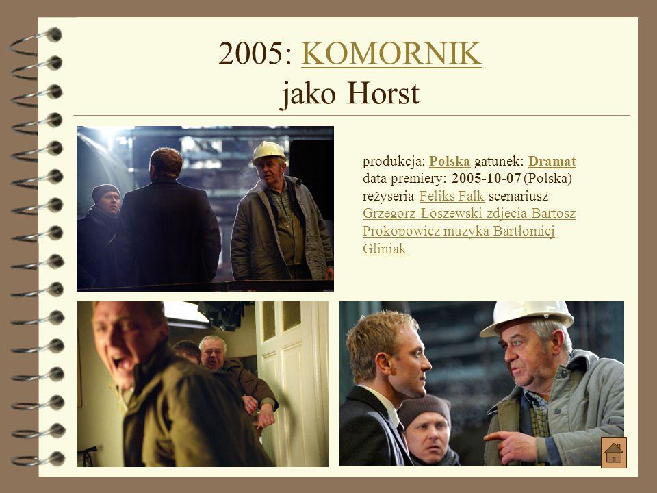 2004: Mój Nikifor jako FerekMój Nikifor jako Ferek produkcja: Polska gatunek: Biograficzny, DramatPolska Biograficzny, Dramat data premiery: 2004-09-2