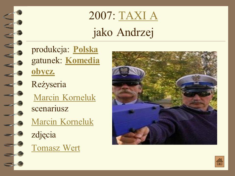 2007: POKÓJ SZYBKICH RANDEK jako Naczelnik więzieniaPOKÓJ SZYBKICH RANDEK jako Naczelnik więzienia produkcja: Polska gatunek: KrótkometrażowyPolska Kr