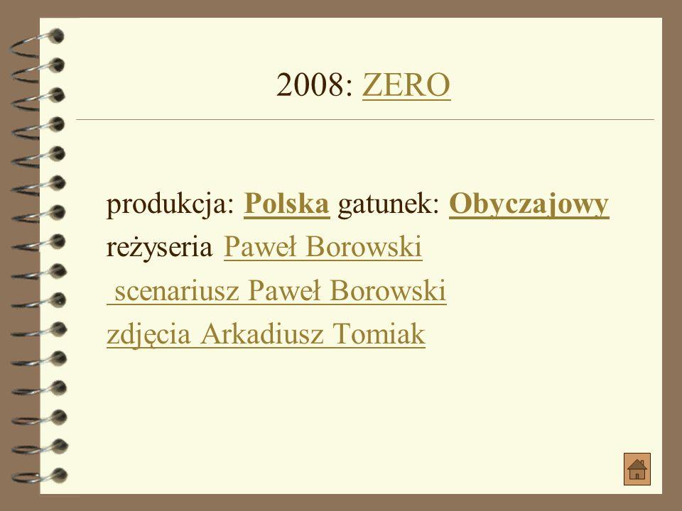 261366 2008: WINO TRUSKAWKOWE jako KościejnyWINO TRUSKAWKOWE produkcja: Polska, Słowacja gatunek: Dramat, KomediaPolskaSłowacja gatunek: Dramat, Komed