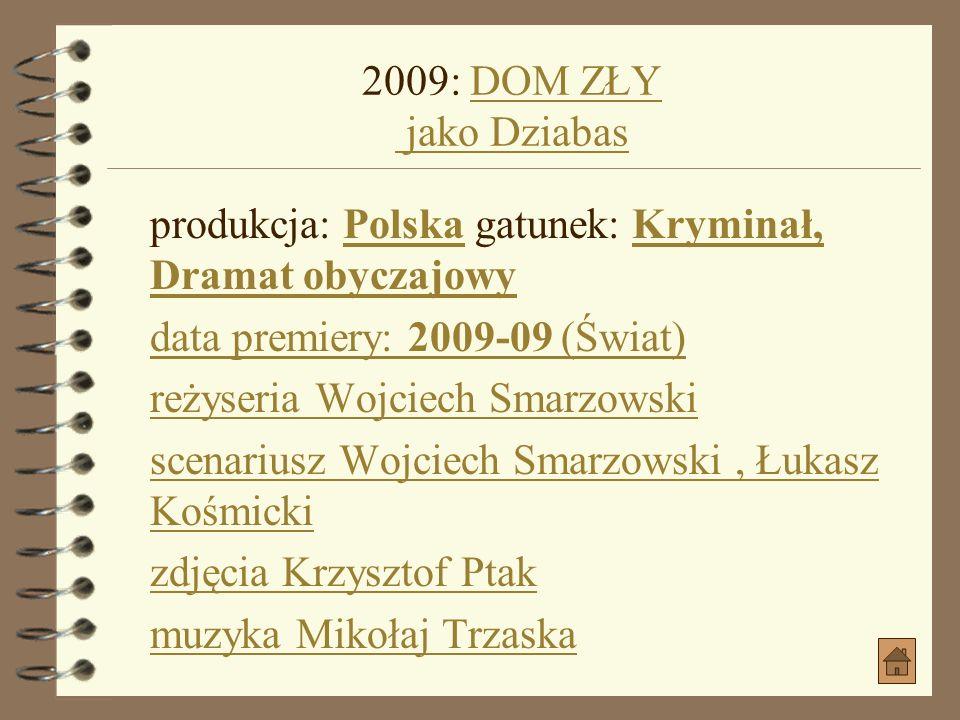2008: SENNOŚĆ jako TeśćSENNOŚĆ jako Teść produkcja: Polska gatunek: ObyczajowyPolskaObyczajowy data premiery: 2008-10-17 (Polska) reżyseria Magdalena