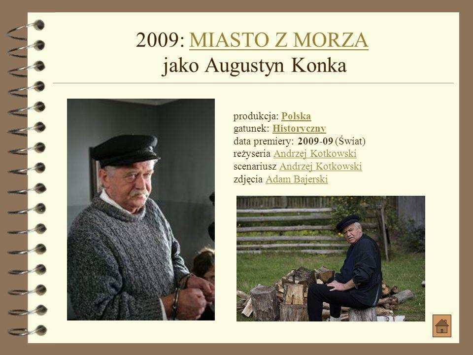 2009: DOM ZŁY jako DziabasDOM ZŁY jako Dziabas produkcja: Polska gatunek: Kryminał, Dramat obyczajowyPolskaKryminał, Dramat obyczajowy data premiery: