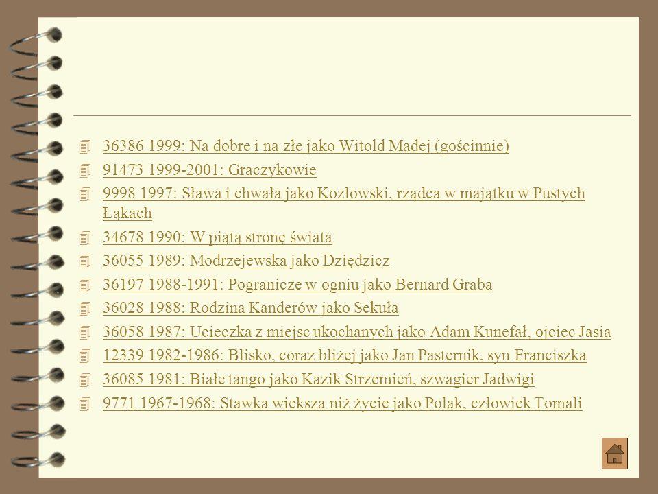 Seriale z jego udziałem 4 2007: Odwróceni jako Franciszek Żuk