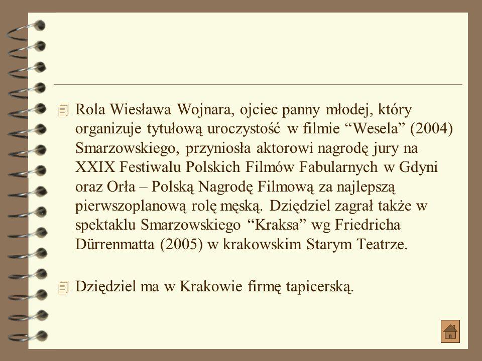 Inne 4 Marian został przyjęty do krakowskiej Państwowej Wyższej Szkoły Teatralnej z adnotacją, że w ciągu pierwszego semestru musi nauczyć się mówić p