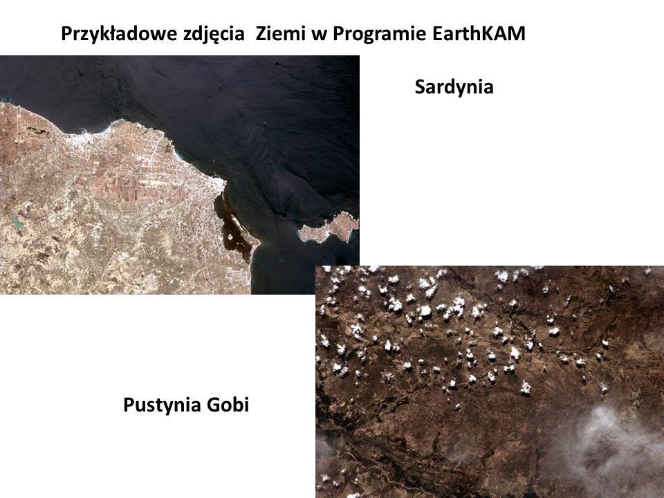 Przykładowe zdjęcia Ziemi w Programie EarthKAM Sardynia Pustynia Gobi